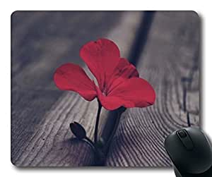 B Red Flowers Customized Non-Slip Rubber Mousepad Gaming Mouse Pad