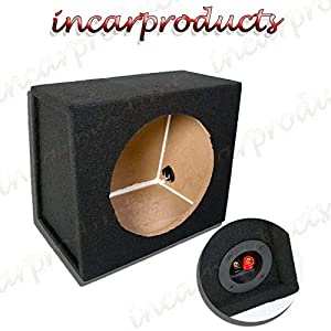 Inex 15 38cm MDF Black Port Car Audio Speaker Sub Subwoofer Bass Box Enclosure 70L
