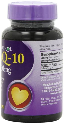 Natrol Coenzyme Q-10, 30mg Capsules, 60-Count Photo #3