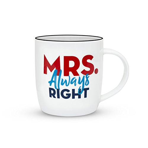 00123b671b Gifffted Mr Right and Mrs Always Right Coffee Mugs Set, Funny His Hers  Couples Marriage