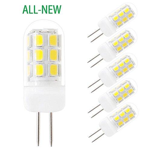 SZHZS G4 LED Bulb, All-New Dimmable G4 Bulbs 120V, 3.5W White 30W-35W Equivalent 320Lumen (Pack of 5)