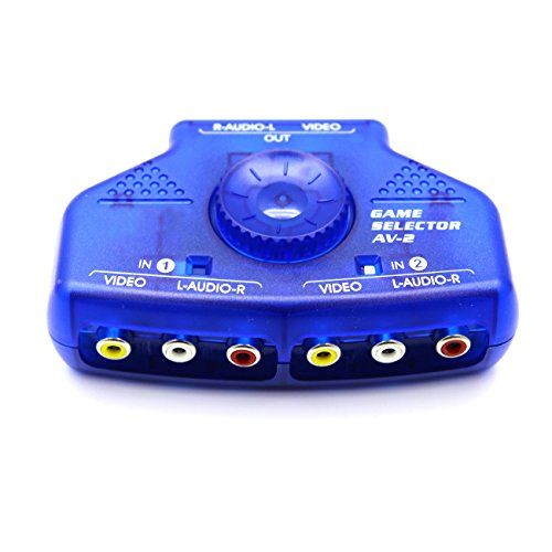 Rca Audio Video Switch - Optimal Shop 2 Way Audio Video Switch Selector Box Splitter with RCA Cable -Blue