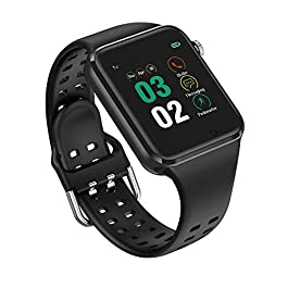321OU Smart Watch for Android iOS Phones Compatible iPhone Samsung, SIM/SD Card Slot Support Smartwatch Fitness Tracker Fitness Watch Camera, Pedometer for Women Men (Black)