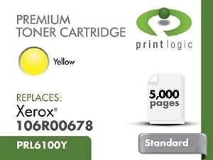 Printlogic PRL6100Y Amarillo tóner y cartucho láser - Tóner para impresoras láser (Amarillo)