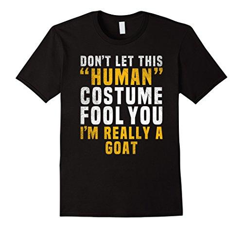 Mens Goat Funny Halloween Shirt Costume Easy for Women Men Kids Large Black