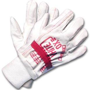 White Ox Elastic Band Rigging Gloves - Dozen by WoodlandPRO