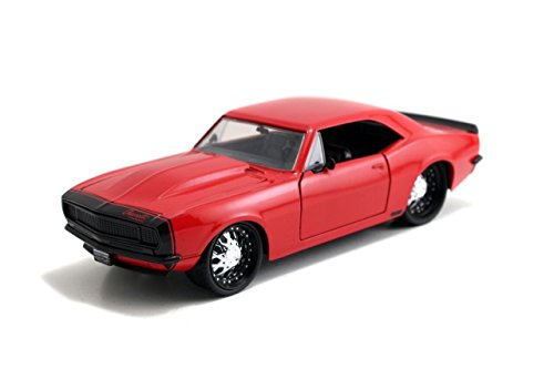 Jada Toys New 1:24 Display Big TIME Muscle - RED 1967 Chevrolet Camaro Diecast Model Car (Without Retail Box)