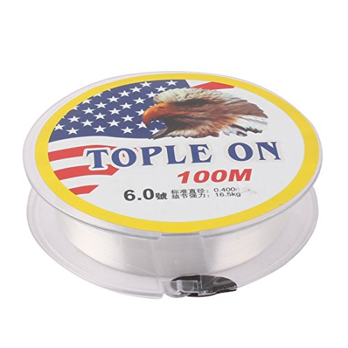Cheap uxcell Nylon String Outdoor Fishing Angling 100M Length Monofilament Line Fish Spool