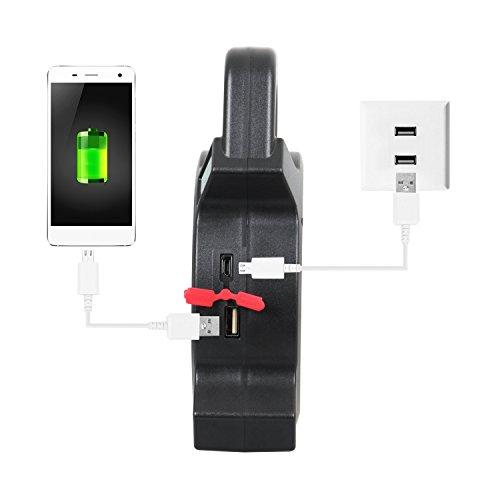 T-Sun COB LED Portable Work Light 5W 1200Lumens with Micro-USB Charging Emergency Work Light Camping Lantern Power Light by T-SUN (Image #5)
