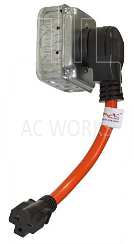 AC WORKS [S1450620-012] 1FT STW 10/3 RV/Range/Generator 14-50P 50Amp Plug to 6-20R 15/20Amp 250Volt Adapter by AC WORKS (Image #4)