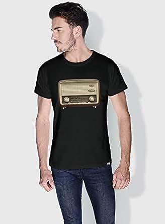 Creo Radio Retro T-Shirts For Men - Xl, Black