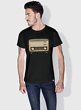 Creo Radio Retro T-Shirts For Men - M, Black