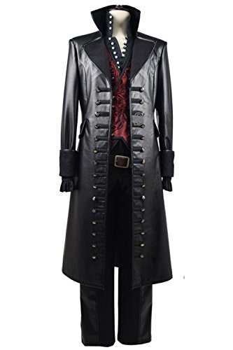 Beauty Costume Mens Cosplay Costume Red Vest PU Pleather Halloween Outfit (Man-L) (Male Halloween Outfits)