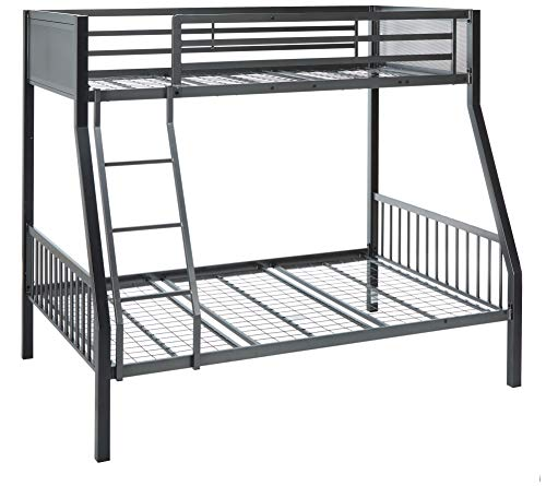 Coaster Home Furnishings Black and Gunmetal Meyers Twin Over Full Metal Bunk Bed (Coaster Twin Over Twin Convertible Loft Bunk Bed)
