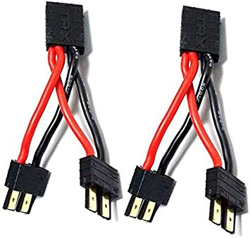 2 Piezas TRAXXAS / TRX Conector de Enchufe Cable Paralelo Cables de extensión 1 a 2 Adaptador para RC Racing