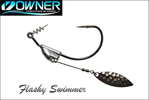 Owner Flashy Swimmer #1/0, 1/8oz - 6pack (Flashy Fish)