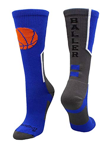 MadSportsStuff Baller Basketball Logo Crew Socks...