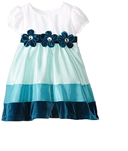 Rare Editions Baby Baby Girls' Colorblock Social Dress, Multi Color, 4T