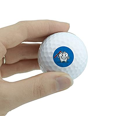 GRAPHICS & MORE Happy Tooth Toothbrush Dentist Novelty Golf Balls 3 Pack from GRAPHICS & MORE
