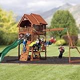 Highlander Deluxe Cedar Play Set with Slide