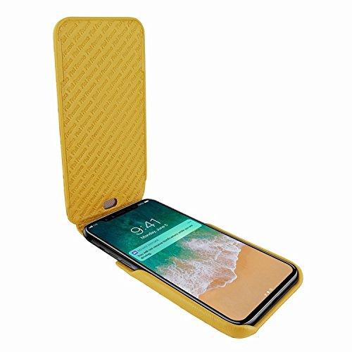 Piel Frama 792 Yellow Crocodile iMagnum Leather Case for Apple iPhone X