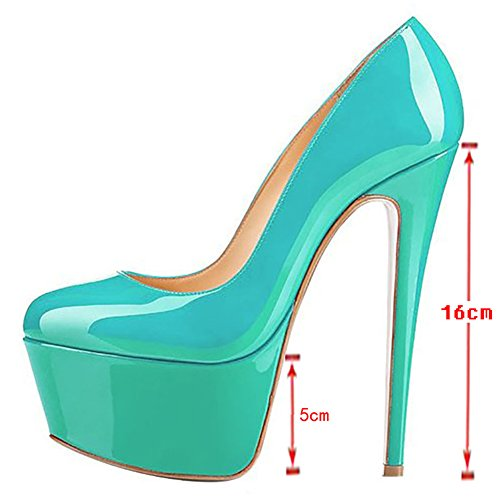 MERUMOTE Women's High Heels Pumps Platform Shoes For Party Dress Night Out Green ui9P1