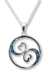Jane Seymour Open Hearts Necklace Blue Waves