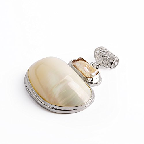 (Ruilong Trendy Natural Snail Seashell Freshwater Mother of Pearl Shell Conch Charm Pendant For Jewelry Making For Necklace Men Women Wholesale (Mother Pearl Shell A))