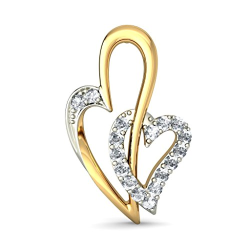 Or jaune 18 K 0.17 CT TW White-diamond (IJ | SI) Boucles d'oreille à tige