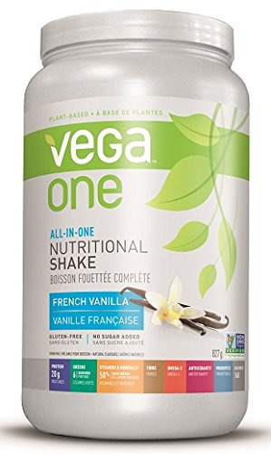 Shake Premium Nutrition (Vega One All-in-One Shake, French Vanilla, Large Tub, 20 Servings, 29.2 Ounce)