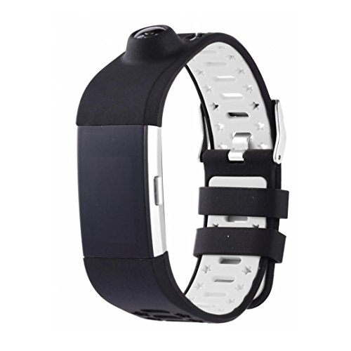 Outsta For Fitbit Charge 2 New Fashion Sports Silicone Bracelet Strap Band White by Outsta