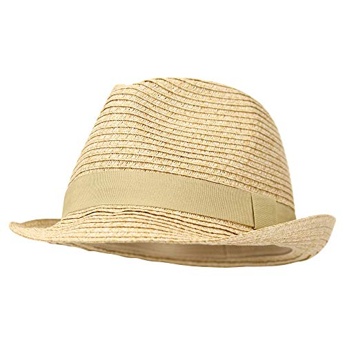 Women's Stretch Fit Paper Straw Fedora Hat ()