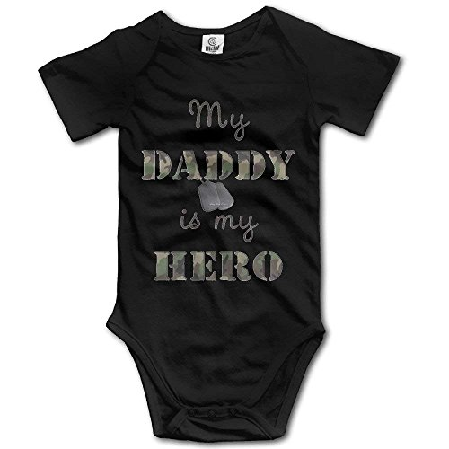 Army Baby Clothes - OASCUVER My Daddy is My Hero Toddler Baby Short Sleeves Jumpsuits ¡ Black