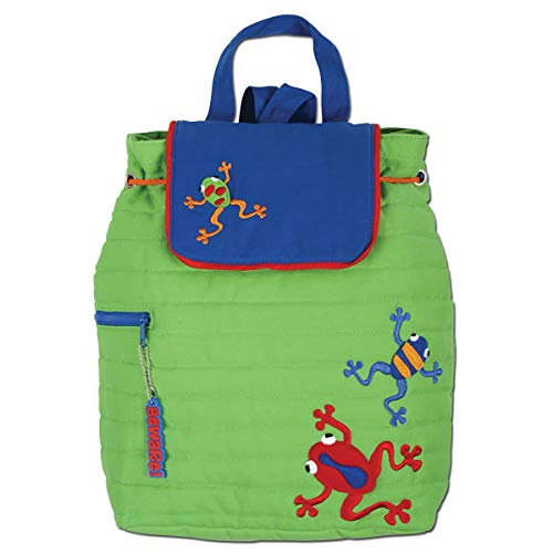 Quilted Frog (Stephen Joseph Little Boys' Quilted Dart Frog Backpack, Lime Green, One Size)