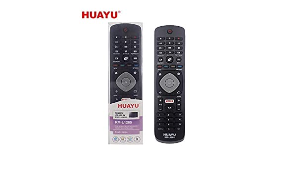 HUAYU RM-L1285 - Mando a Distancia Universal para televisores Philips Netflix LCD y LED: Amazon.es: Electrónica