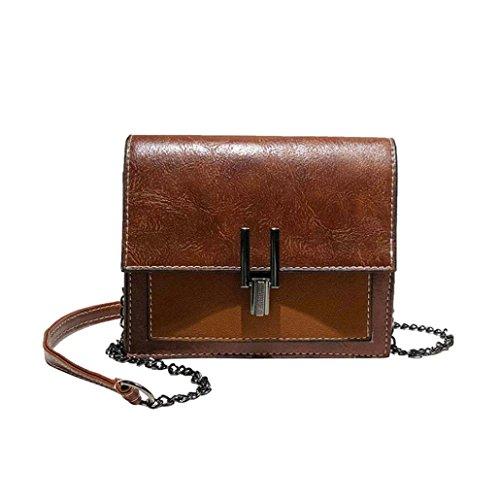 Mini Bag��GINELO Bag Crossbody Bag Patchwork Flap Women Shoulder Girl Fashion Brown Ladies 8qvxw