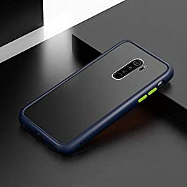 AE Mobile Accessories for Redmi Note 8 Pro Back Cover Smoke Translucent Shock Proof Smooth Rubberized Matte Hard Back Case Cover (Blue)