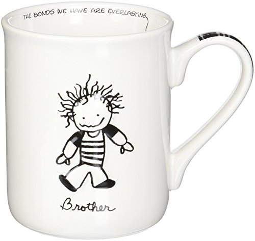 Enesco Children of the Inner Light Brother Stoneware Gift Mug, 16 (Enesco Mug)
