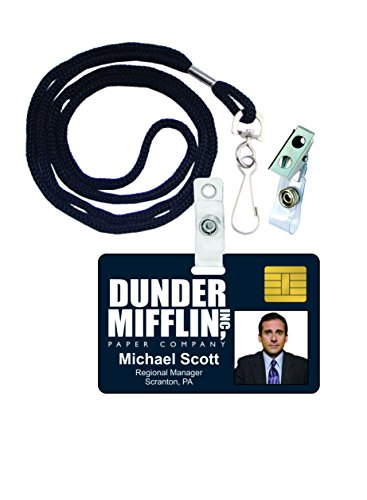Michael Scott The Office Novelty ID Badge Film Prop for Costume and Cosplay • Halloween and Party Accessories
