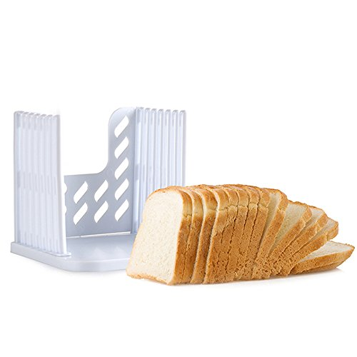 SumacLife Non Slip Premium Easy To Use Kitchen Tool Bread Loaf Slicer Helper, White