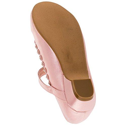 Mädchen Schuhe Ballerinas in weiss oder Schwarz #128rs Rosa