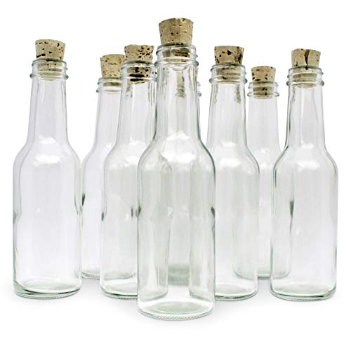 Message Bottle Wedding Invitations - 12 Glass Bottles & Corks for Message in a Bottle Invitations & Announcements