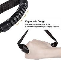 E-cowlboy Auto Adjustable Car Handle Standing Aid Safety Handle Vehicle Support Portable Nylon Grip Handle Car Assist Device Black