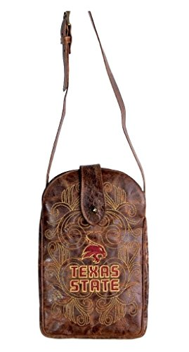 NCAA Texas State Bobcats Women's Cross Body Purse, Brass, One Size by Gameday Boots