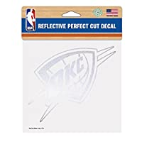 NBA Oklahoma City Thunder Perfect Cut Reflective Decal, 6 x 6-Inch