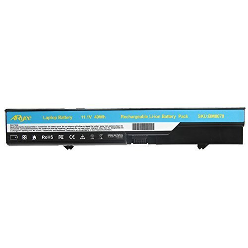 ARyee 6-Cell Battery for HP 620 HP ProBook 4520s 4525S 4425s 4420s 4320s, Compaq 320 321 326 420 425 620 621 fits 593572-001 593573-001 PH06 PH09-18 Months Warranty by ARyee (Image #1)