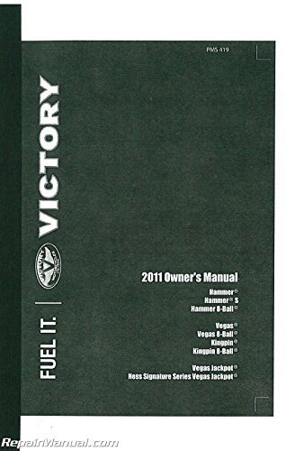 9923011 2011 Victory Kingpin Vegas Hammer Jackpot US Model Motorcycle Owners ()