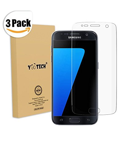 Galaxy S7 Schutzfolie [Vollständige Abdeckung], Yootech [3 Pack ] [Blasenfreie][Klar HD Ultra] [Anti-Kratz] Anti-Fingerabdruck Displayschutzfolie Displayschutz Screen Protector Für Samsung Galaxy S7 [ Lebenslange Garantie]