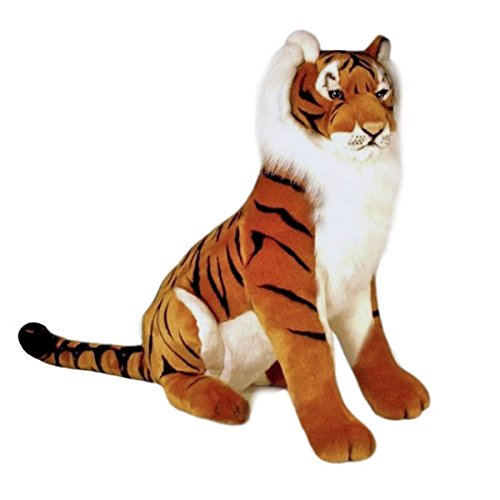Amazon Com Bocchetta Plush Toys Tiger Huge Sitting Soft Plush Toy