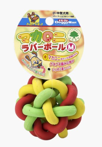 Doggy man macaroni rubber ball for dogs M (japan import)